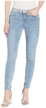 Vince Camuto Indigo Five-Pocket Skinny Jeans with Contrast Band in Spectrum Blue (Spectrum Blue) Women's Jeans