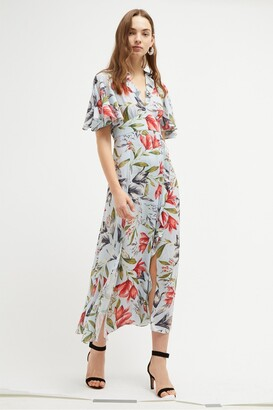 French Connection Cadencia Crepe Floral Maxi Dress