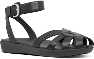 FitFlop Cova Weave Leather Sandal