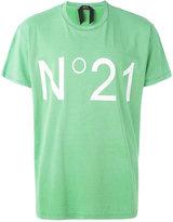 No.21 logo print T-shirt - men - Cotton - 46