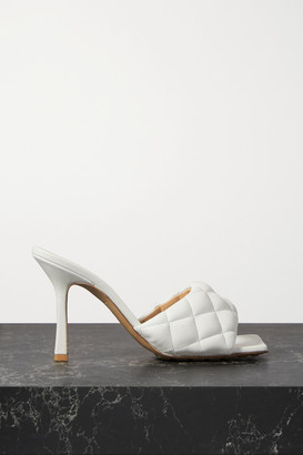 Bottega Veneta Quilted Leather Mules - White