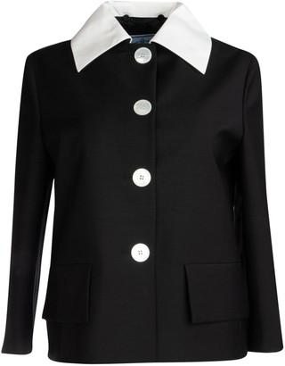 Prada Contrast Collar Jacket
