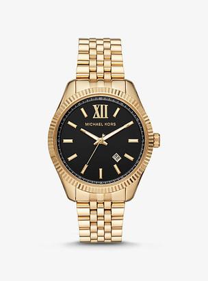 Michael Kors Oversized Lexington Gold-Tone Watch - Two Tone