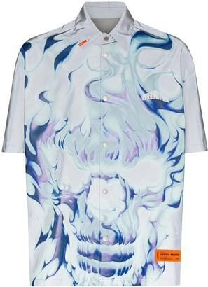 Heron Preston Skull Flame Print Shirt