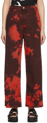 McQ Red Tie-Dye Maru Jeans