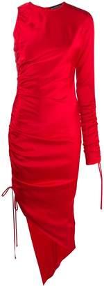 David Koma ruched asymmetric dress