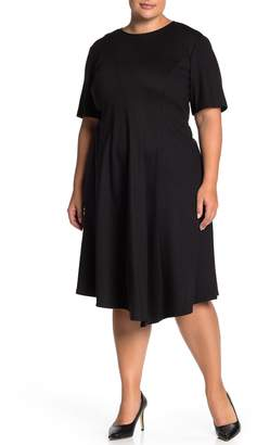 Lafayette 148 New York Aveena Wool Fit & Flare Ponte Dress (Plus Size)