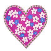 Designers Guild Candy Hearts Fuchsia Kids Rug