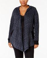 DKNY Plus Size Hooded Cozy Fleece Wrap