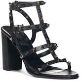 Valentino Women's 'Noir Rolling' Rockstud Sandal