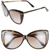 Tom Ford Women's Reveka 59Mm Special Fit Butterfly Sunglasses - Black/ Rose Gold/ Silver Flash