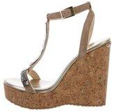 Jimmy Choo Embellished Wedge Sandals