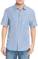 Tommy Bahama Men's Sand Standard Fit Check Linen Blend Sport Shirt