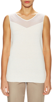 Lafayette 148 New York Linen Interlaced Rib Tank