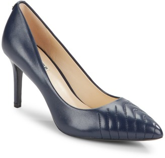 Karl Lagerfeld Paris Roulle Leather Point-Toe Pumps
