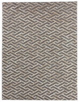 BEIGE Exquisite Rugs Santa Fe Natural Hide Rug, and Ivory, 8'x11'