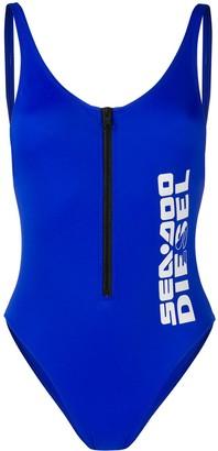 Diesel x Sea-Doo zip front swimsuit