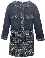 Chanel Anthracite Tweed Dress for Women