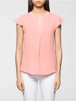 Calvin Klein Cap Sleeve V-Neck Top