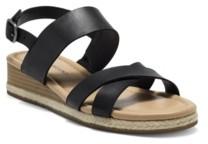 Lucky Brand Women's Waeka Crisscross Strap Wedge Sandals Women's Shoes
