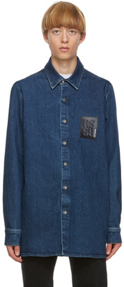 Raf Simons Navy Denim Slim Fit Shirt