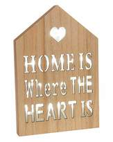 Fashion World Home is Where the Heart Is Wall Plaque