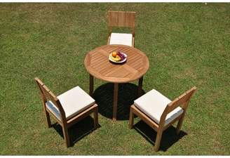 """3.1 Phillip Lim Rosecliff Heights Iowa 4 Piece Teak Dining Set Rosecliff Heights Table Size H x 36"""" L x 36"""" W"""