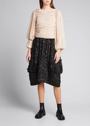 Comme des Garcons Camo Jacquard Midi Skirt
