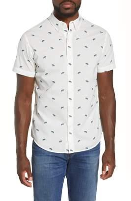 Bonobos Riviera Slim Fit Frog Print Short Sleeve Button-Down Shirt