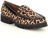 Donald J Pliner Bovine Hair Rio Leopard Print Calf Hair Loafers