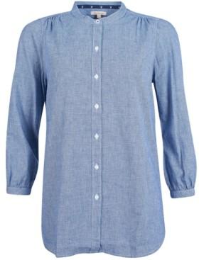Barbour Petrel Printed Button-Down Blouson-Sleeve Shirt