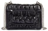 Miu Miu Matelasse Leather Shoulder Bag - Black