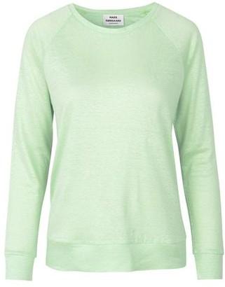 Mads Norgaard Organic Linen Tristella Pastel Green Long Sleeve Top - XS