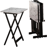 Asstd National Brand Faux Marble 5-pc. TV Tray Table