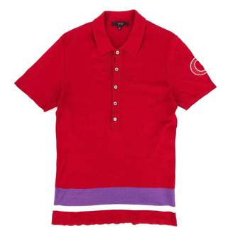 Gucci Red Cotton Polo shirts
