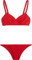 Lisa Marie Fernandez Yasmin Seersucker Bikini - Red