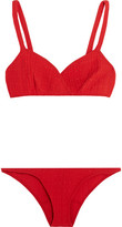 Lisa Marie Fernandez Yasmin Stretch-cloqué Bikini - Red