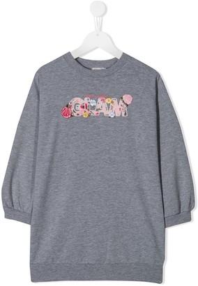 MonnaLisa Glam embroidery sweater dress