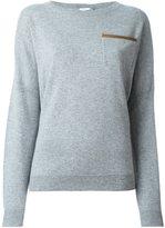 Agnona cashmere chest pocket pullover