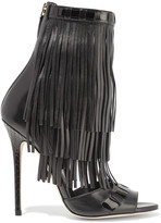Brian Atwood Abby fringed leather sandals