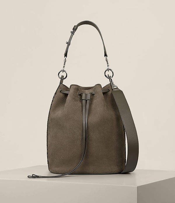 AllSaints Ray Nubuck Bucket Bag