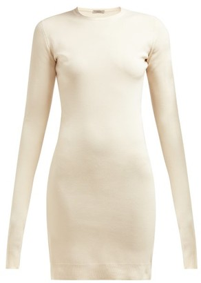 Bottega Veneta Intrecciato-tab Cashmere-blend Dress - Womens - Cream