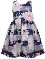 Bonnie Jean Girls 7-16 Mixed Floral Burnout Stripe Organza Dress