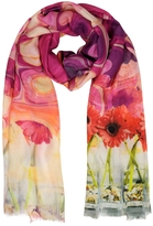 Mila Schon Sunflowers Print Modal Fringed Stole