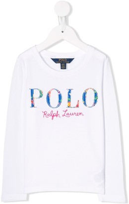 Ralph Lauren Kids Embroidered Logo Top