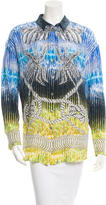 Peter Pilotto Silk Printed Button-Up Top w/ Tags