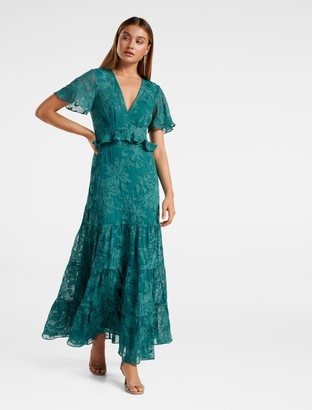 Forever New Ida Embroidered Tiered Maxi Dress - MIAMI - 6