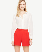 Ann Taylor Crepe Pleated Shorts