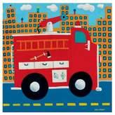Oopsy Daisy Fine Art For Kids Fire Truck Canvas Wall Art in Red