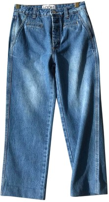 Loewe Blue Cotton Trousers for Women